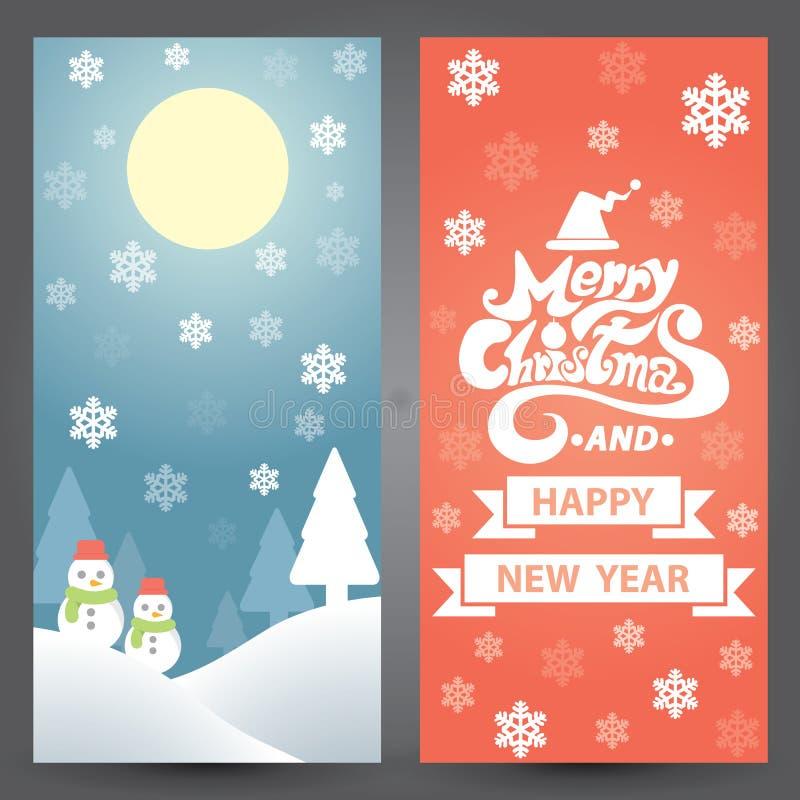 Cartolina di Natale illustrazione vettoriale