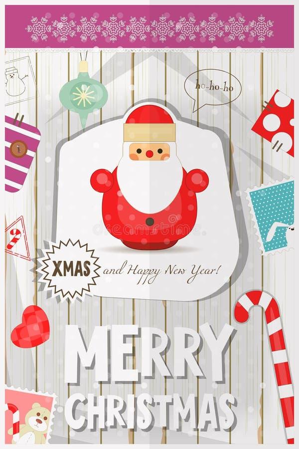 Cartolina di Natale illustrazione di stock