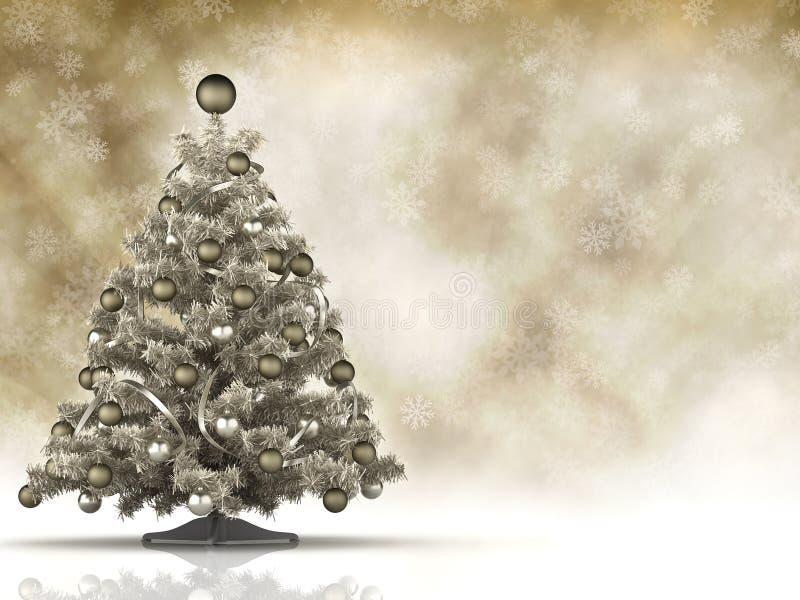 Cartolina di Natale - albero e spazio di natale royalty illustrazione gratis