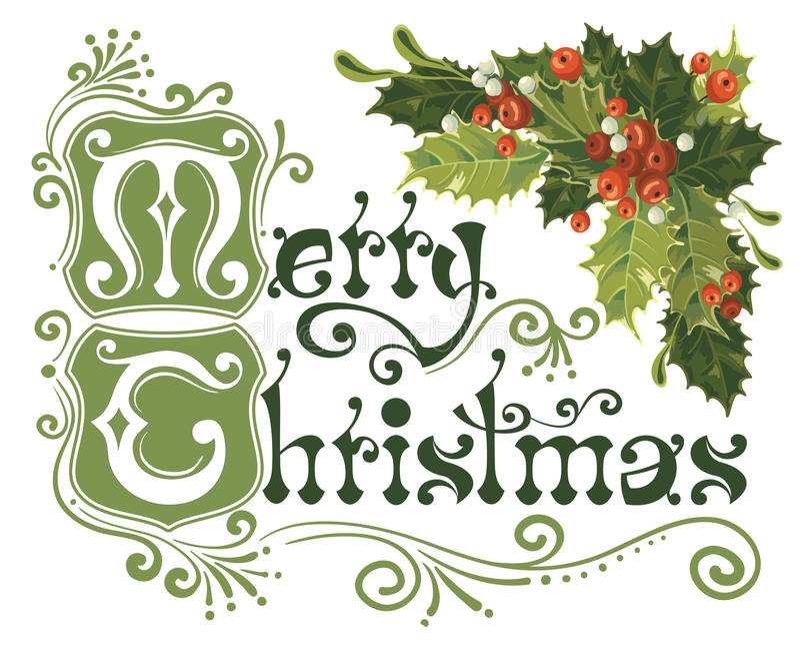 Cartolina di Natale allegra illustrazione di stock