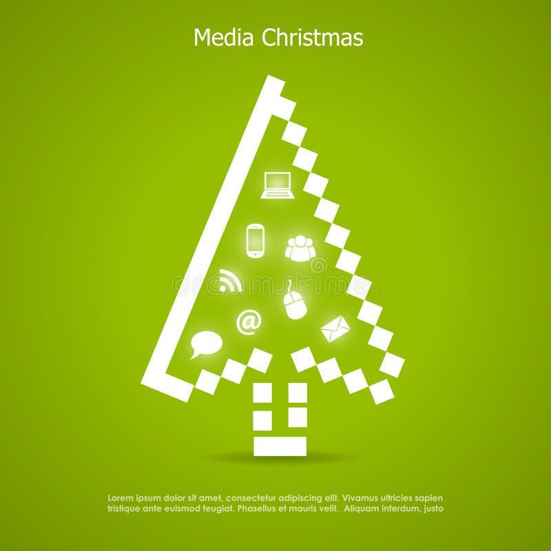 Cartolina di Natale allegra royalty illustrazione gratis