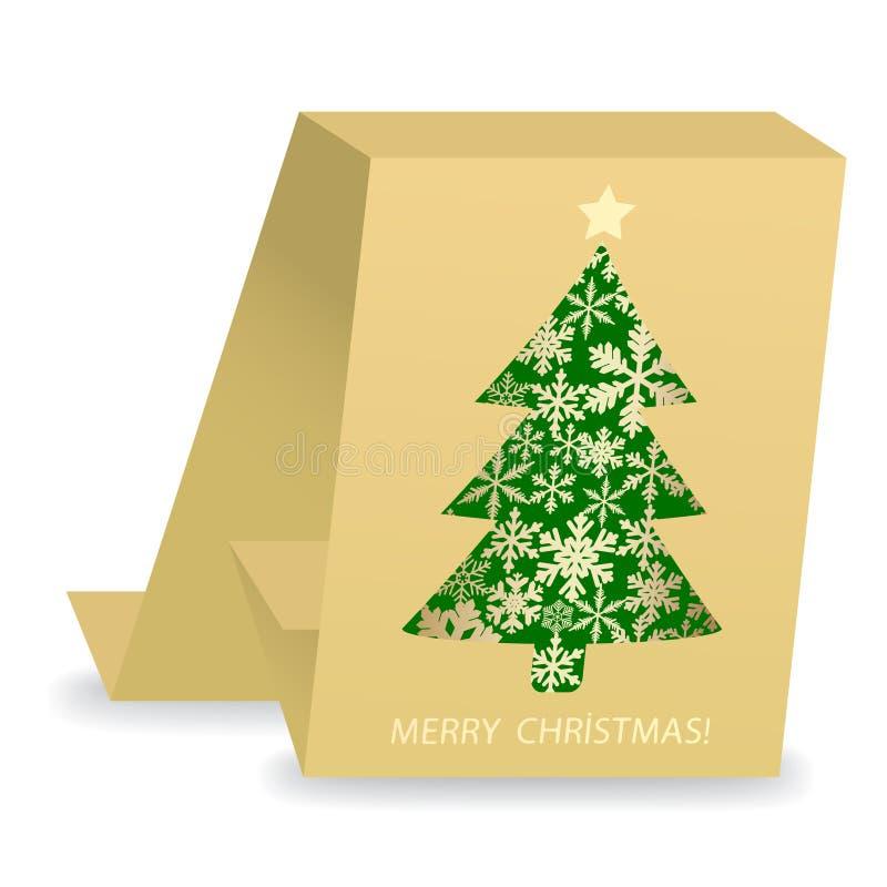 Cartolina di Natale astratta illustrazione vettoriale