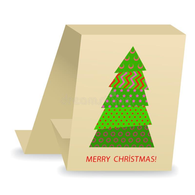 Cartolina di Natale astratta royalty illustrazione gratis
