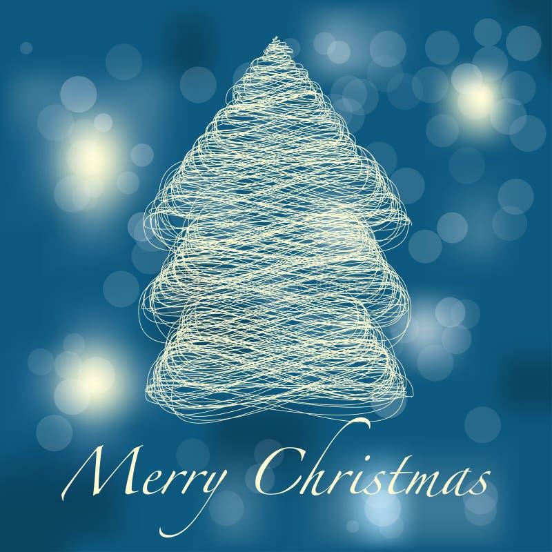 Cartolina di Natale astratta illustrazione di stock
