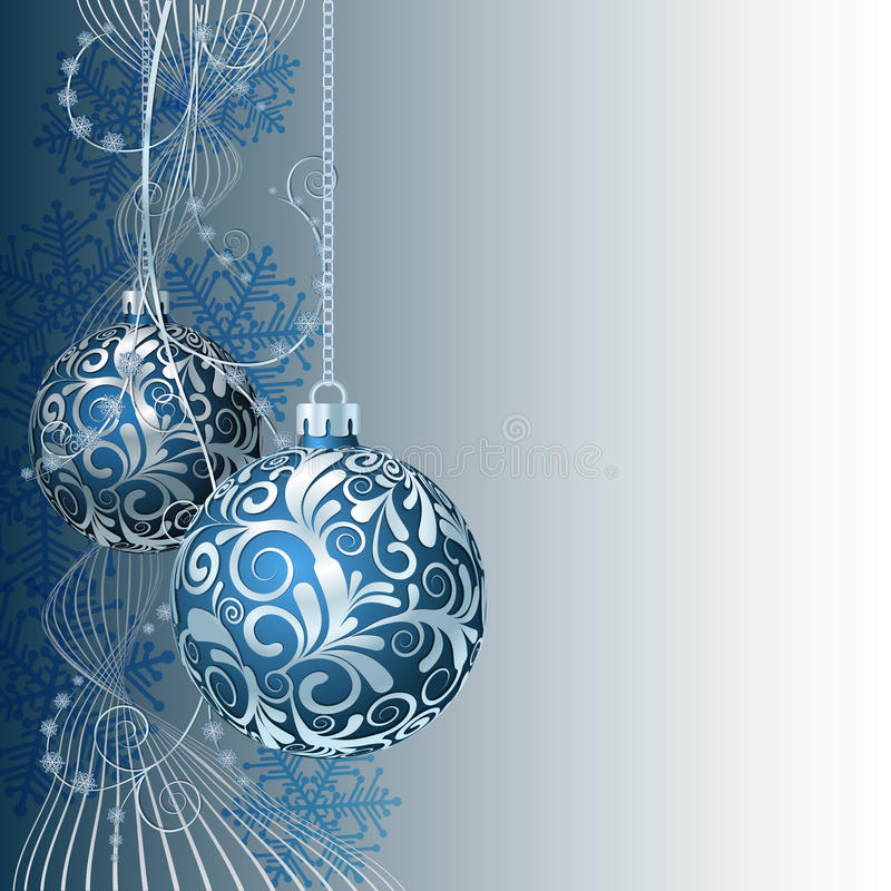 Cartolina di Natale blu royalty illustrazione gratis