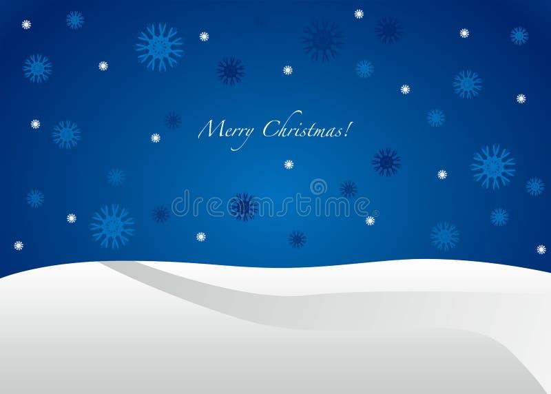 Cartolina di Natale blu - allegra   illustrazione di stock