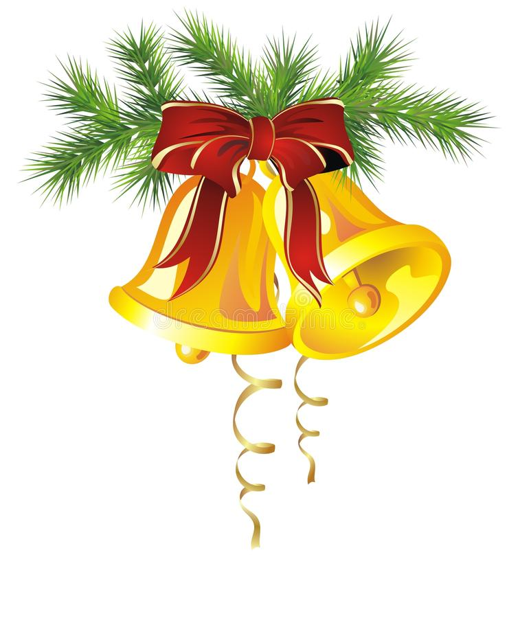 Cartolina di Natale con abete ed i segnalatori acustici illustrazione di stock