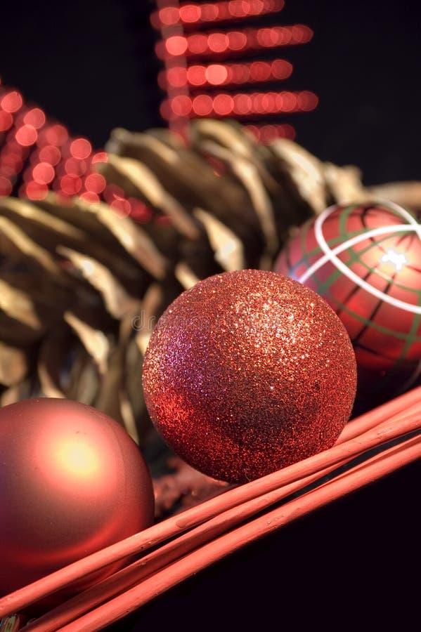 Cartolina di Natale con il cono fotografia stock libera da diritti