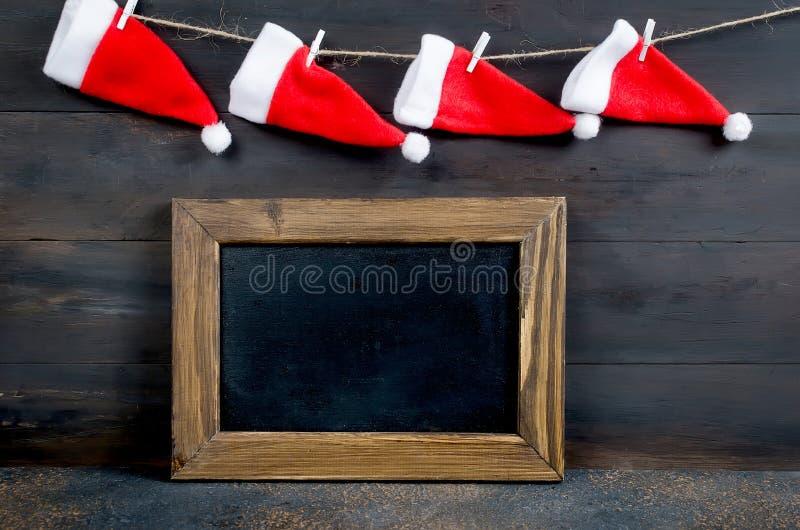 Cartolina di Natale con il posto vuoto per testo fotografia stock libera da diritti