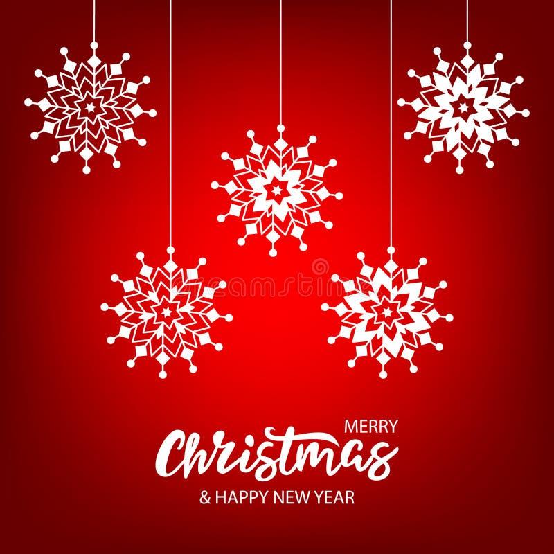 Cartolina di Natale con iscrizione disegnata a mano fotografia stock libera da diritti