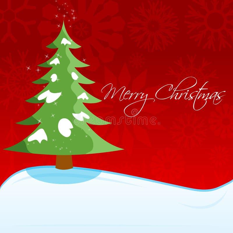 Cartolina di Natale con l'albero di natale royalty illustrazione gratis