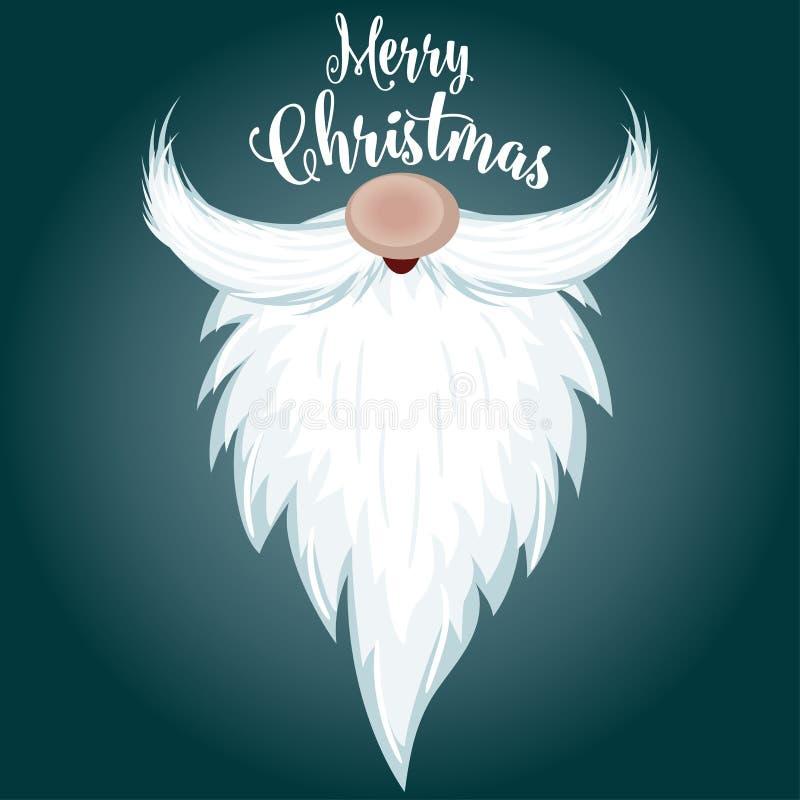 Cartolina di Natale con la barba di Santa royalty illustrazione gratis