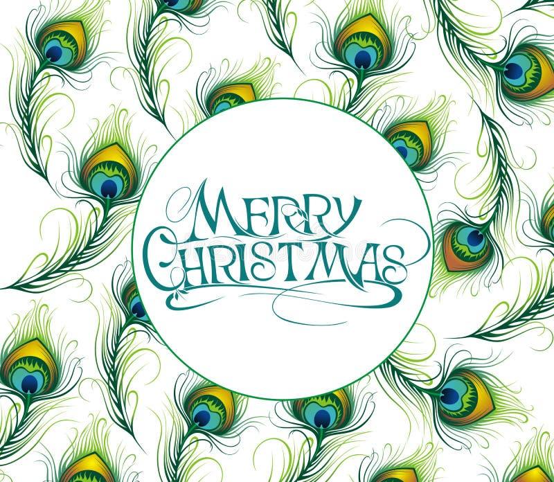 Cartolina di Natale con le piume royalty illustrazione gratis