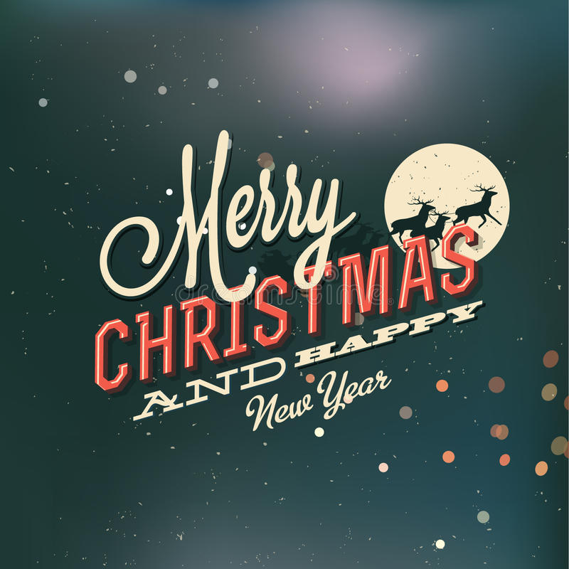 Cartolina di Natale dell'annata royalty illustrazione gratis
