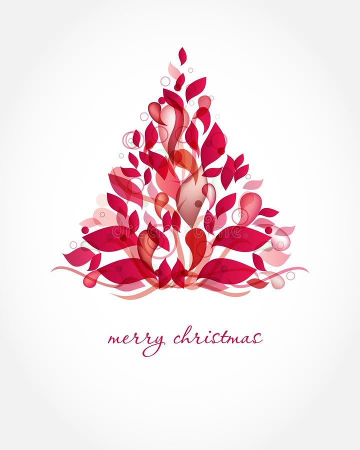 Cartolina di Natale dell'annata con l'albero di festa sulla Florida royalty illustrazione gratis