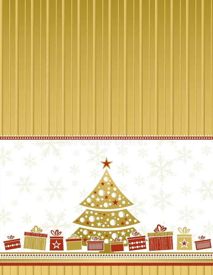 Cartolina di Natale di colore, vettore illustrazione vettoriale