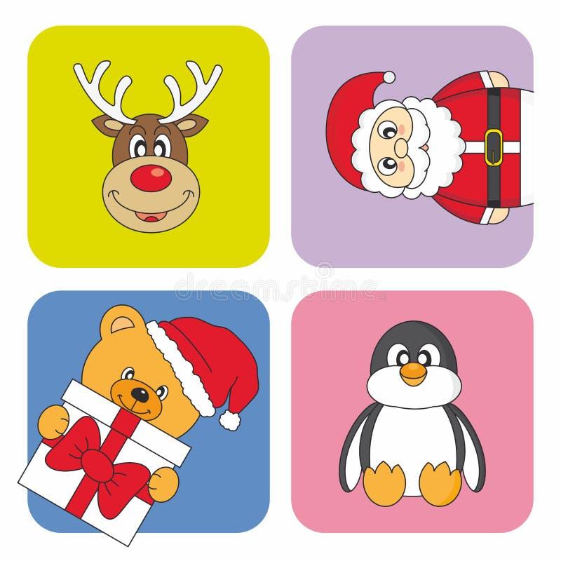 Cartolina di Natale divertente royalty illustrazione gratis