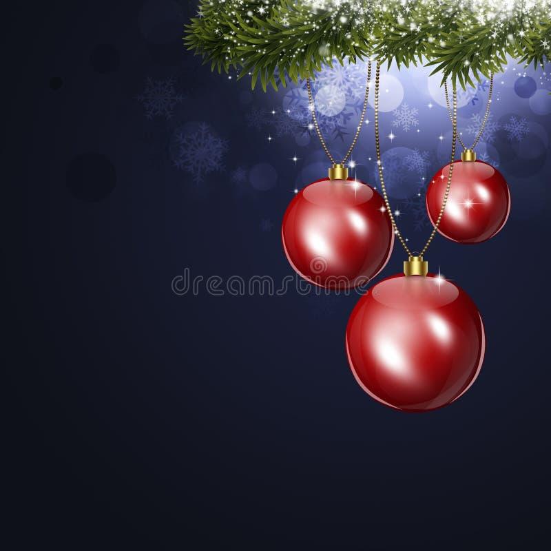 Cartolina di Natale di festa royalty illustrazione gratis