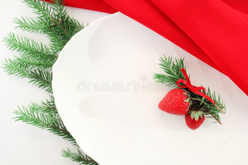 Cartolina di Natale, festa Di natale vita ancora Regolazione della Tabella per il natale Spazio libero per testo Composizione cre fotografie stock
