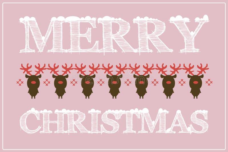 Cartolina di Natale/fondo piani di progettazione con i cervi fotografie stock