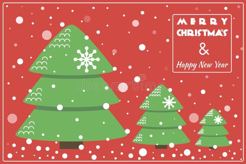 Cartolina di Natale/fondo piani di progettazione con l'albero fotografia stock libera da diritti