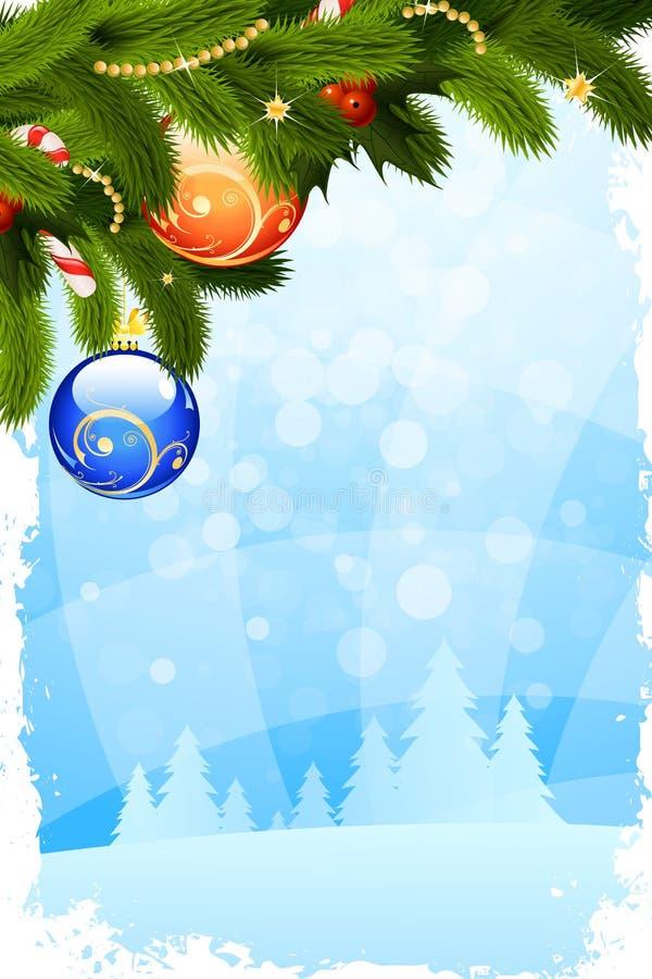 Cartolina di Natale Grungy royalty illustrazione gratis