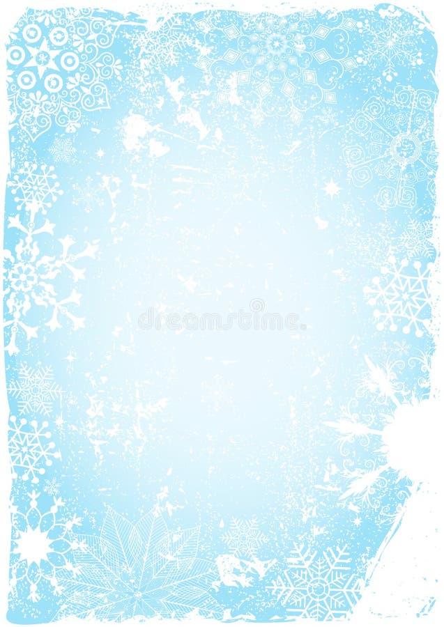 Cartolina di Natale grungy blu illustrazione vettoriale