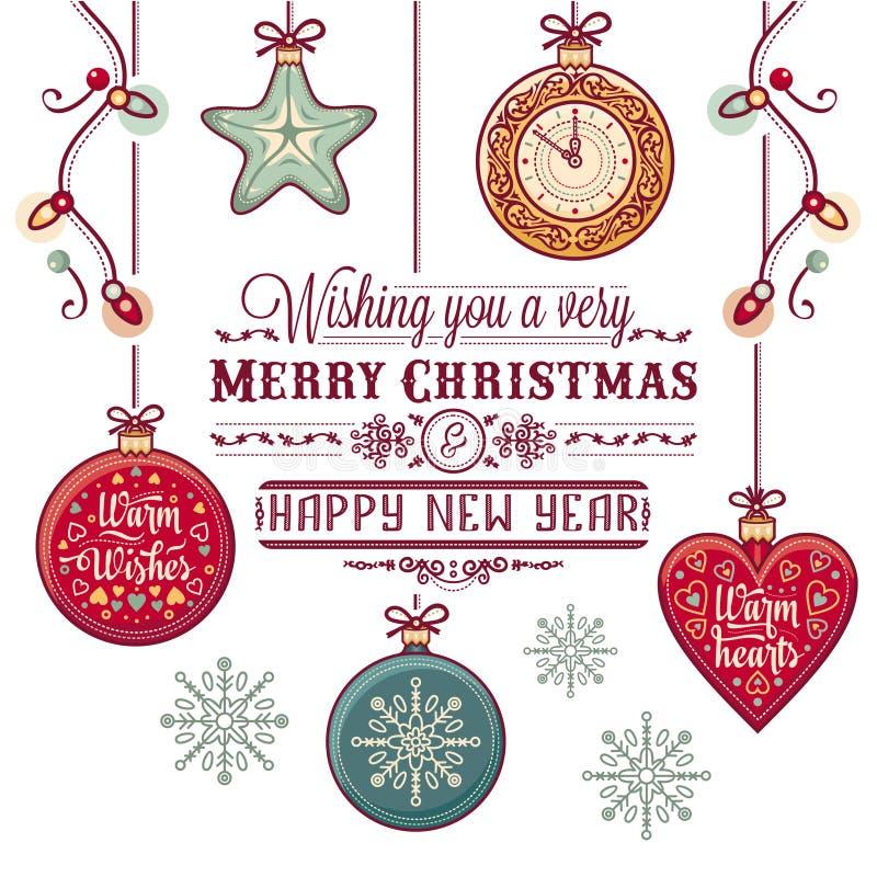Cartolina di Natale Natale che accoglie illustrazione vettoriale