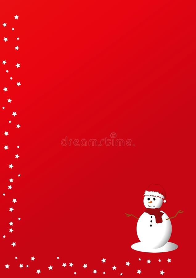 Cartolina di Natale rossa illustrazione di stock