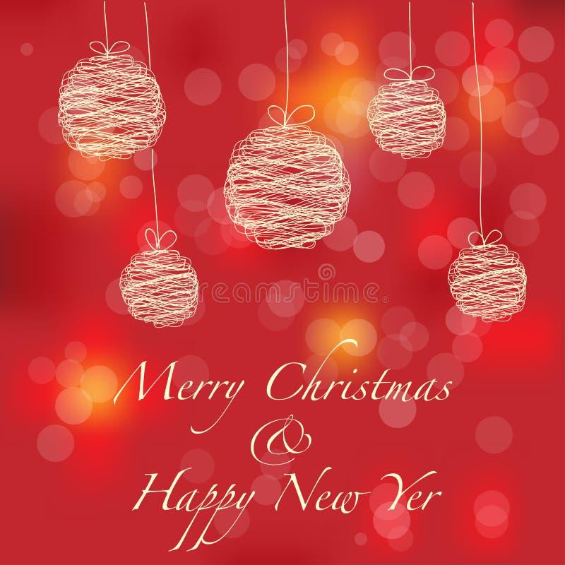 Cartolina di Natale stilizzata illustrazione vettoriale