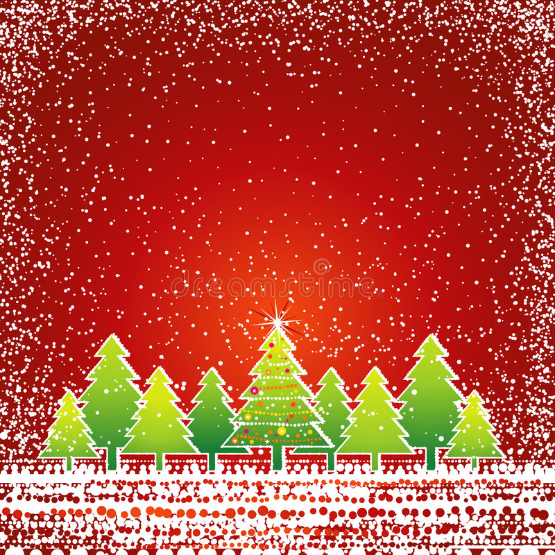 Cartolina di Natale, vettore illustrazione di stock