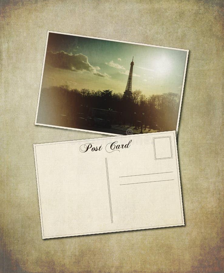 Cartolina di Parigi immagine stock