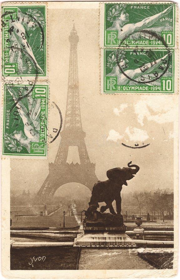 Cartolina di Parigi fotografia stock libera da diritti
