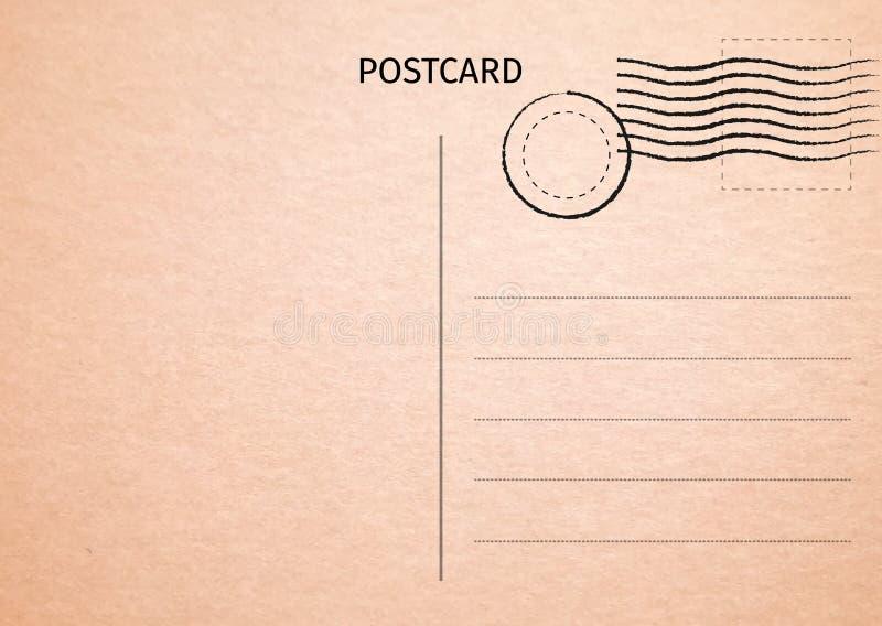 cartolina Illustrazione della carta postale per la vostra progettazione Carta di viaggio royalty illustrazione gratis