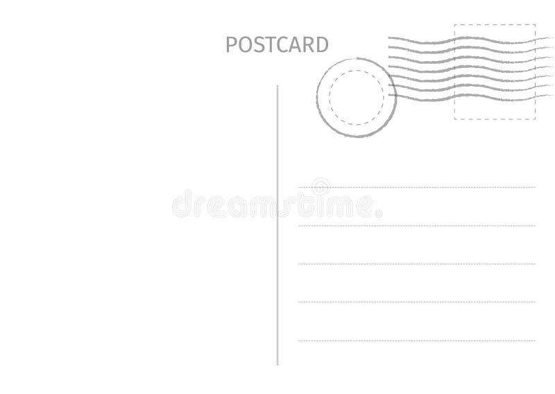 cartolina Illustrazione della carta postale per progettazione Desig della carta di viaggio illustrazione vettoriale