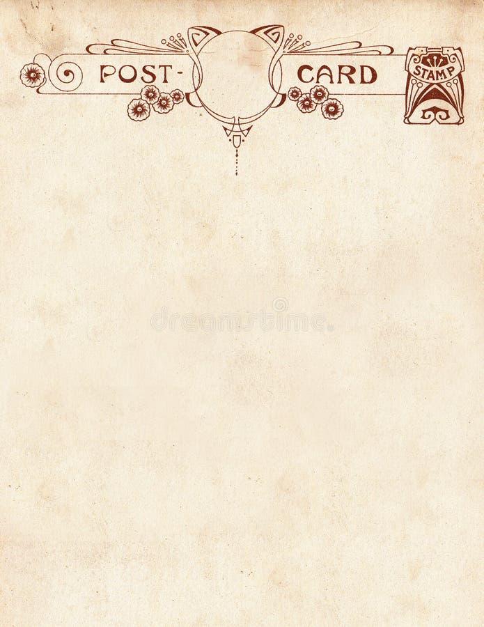 Cartolina Notecard di stile dell'annata illustrazione di stock