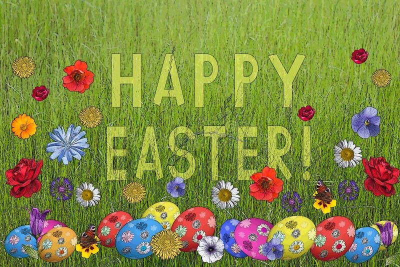 Cartolina a Pasqua santa royalty illustrazione gratis
