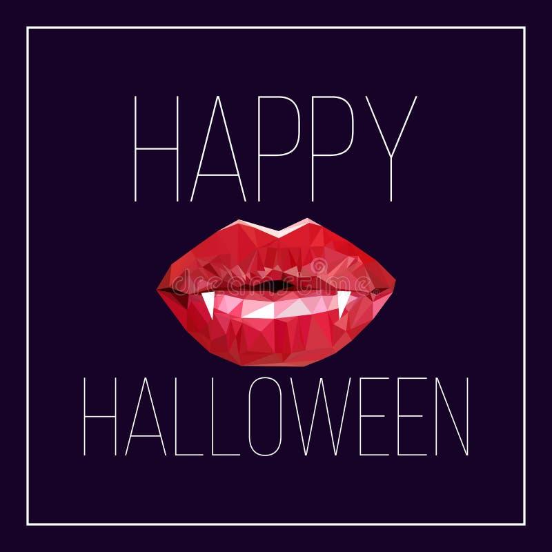 Cartolina per Halloween illustrazione vettoriale