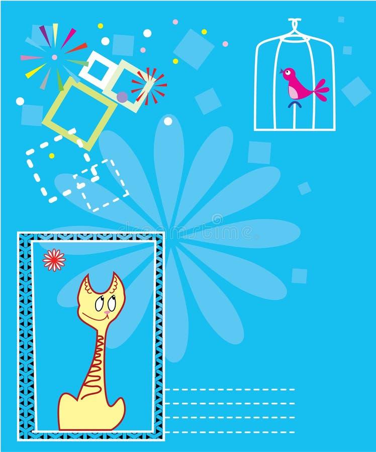 Cartolina per testo illustrazione di stock