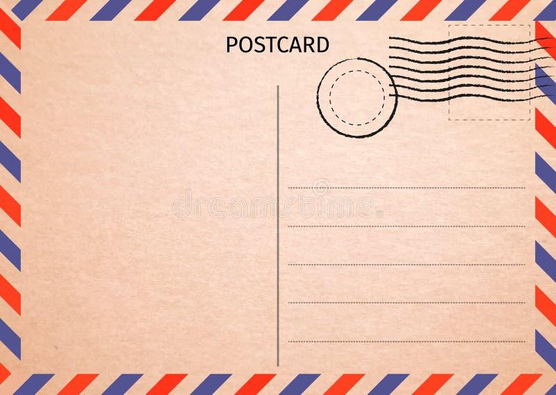 cartolina Posta aerea Illustrazione della carta postale per la vostra progettazione TR illustrazione vettoriale