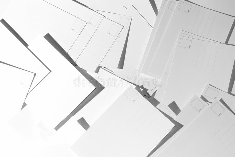 Cartoline in bianco fotografia stock