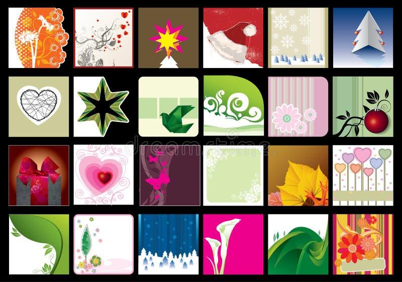 Cartoline d'auguri illustrazione vettoriale