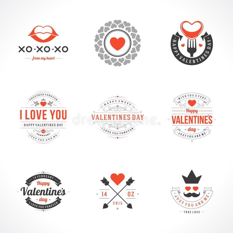 Cartoline d'auguri felici di San Valentino royalty illustrazione gratis
