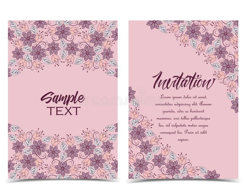 Cartoline d'auguri floreali royalty illustrazione gratis