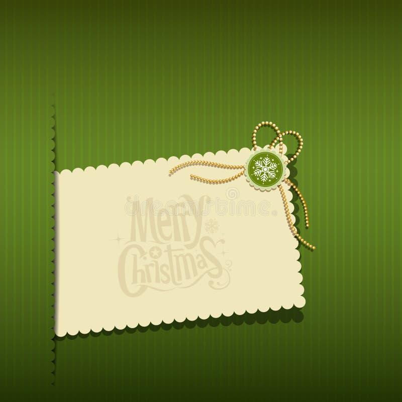 Cartoline d'auguri moderne di Buon Natale illustrazione vettoriale