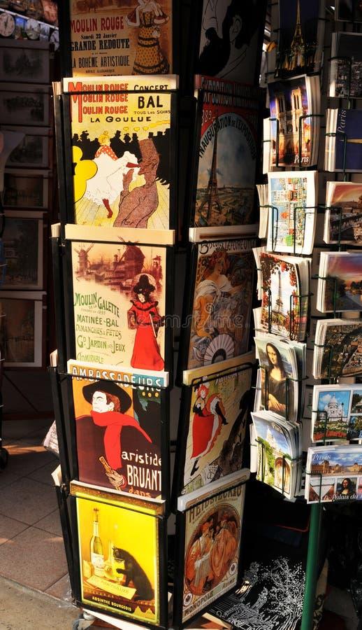 Cartoline da Parigi fotografie stock libere da diritti