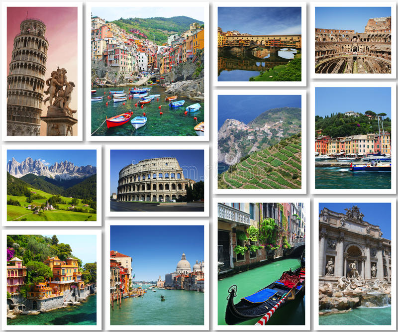 Cartoline dall'Italia fotografia stock