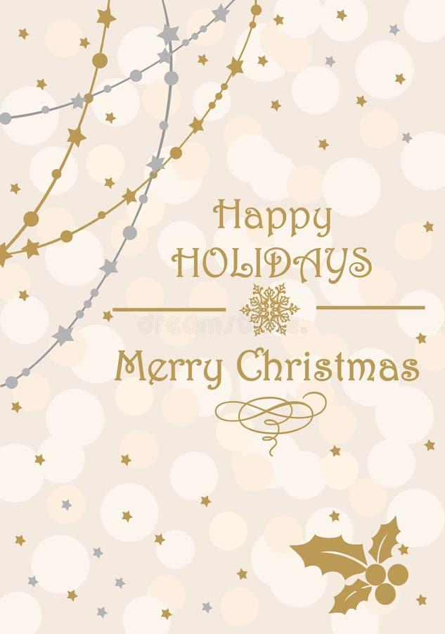 Cartoline del buon anno e di Buon Natale illustrazione di stock