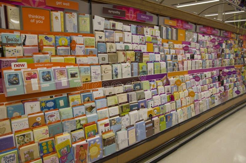 Cartoline della cartolina d'auguri immagine stock libera da diritti