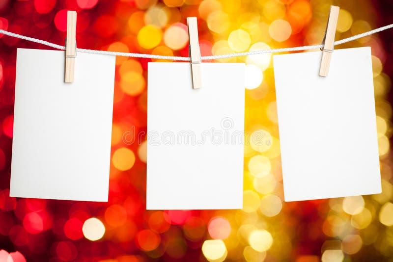 Cartoline di Natale fotografie stock libere da diritti